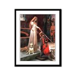 The Accolade Bull Terrier Framed Panel Print