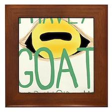 I have a goat deep inside me Framed Tile