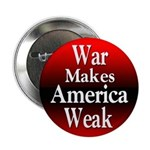 War Makes America Weak Button