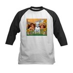 Angels & Bull Terrier #1 Kids Baseball Jersey
