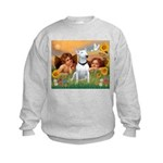 Angels & Bull Terrier #1 Kids Sweatshirt