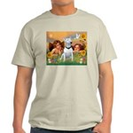 Angels & Bull Terrier #1 Light T-Shirt