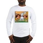 Angels & Bull Terrier #1 Long Sleeve T-Shirt