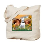Angels & Bull Terrier #1 Tote Bag