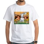 Angels & Bull Terrier #1 White T-Shirt
