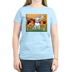 Angels & Bull Terrier #1 Women's Light T-Shirt
