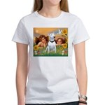 Angels & Bull Terrier #1 Women's T-Shirt