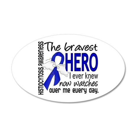 Histiocytosis Bravest Hero 20x12 Oval Wall Decal