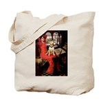 The Lady's Bull Terrier Tote Bag