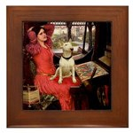 The Lady's Bull Terrier Framed Tile