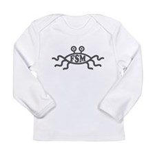 Flying Spaghetti Monster emblem Long Sleeve T-Shir