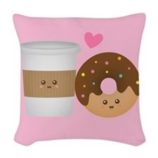 Cute Coffee and Donut in Love, Perfect Pair Woven
