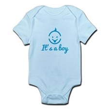 its a boy design with cute baby face icon Body Sui