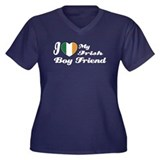 I love my Irish Boy Friend Women's Plus Size V-Nec