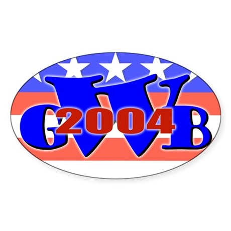 W' 04 Oval Sticker