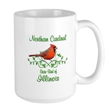Cardinal Illinois Bird Mug