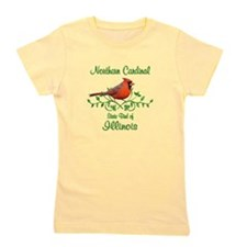 Cardinal Illinois Bird Girl's Tee