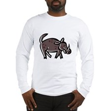 Cartoon Boar Long Sleeve T-Shirt