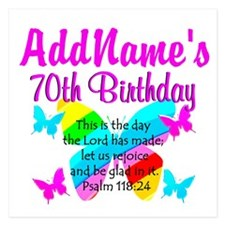BLESSED 70TH 5.25 x 5.25 Flat Cards