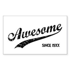 Personalize Awesome Since Stickers