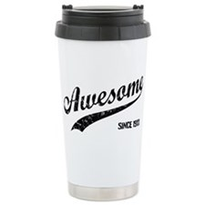 Personalize Awesome Since Travel Mug