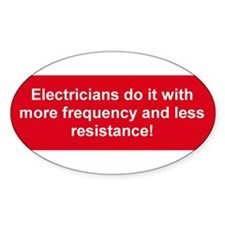 Electricians 1 Bumper Decal Decal