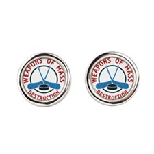 Hockey Weapons Of Mass Destruction Cufflinks