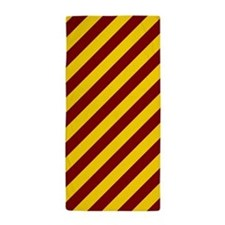 Maroon and Gold Striped Beach Towel