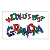 World's Best Grandpa Rectangle Decal