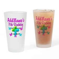 REJOICING 70TH Drinking Glass