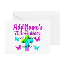REJOICING 70TH Greeting Cards (Pk of 20)
