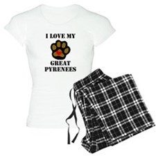 I Love My Great Pyrenees Pajamas