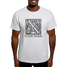 Custom Decorative Letter X T-Shirt