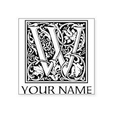 Custom Decorative Letter W Sticker