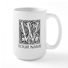 Custom Decorative Letter W Mugs