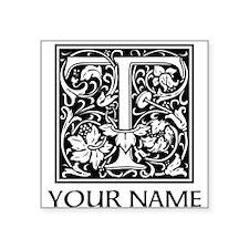 Custom Decorative Letter T Sticker