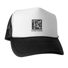Custom Decorative Letter R Trucker Hat