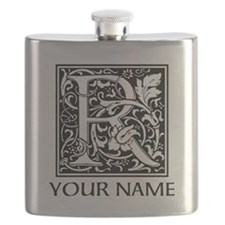 Custom Decorative Letter R Flask