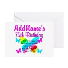 75TH BUTTERFLY Greeting Card
