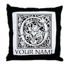 Custom Decorative Letter O Throw Pillow