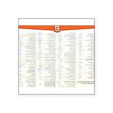 HTML5 Cheat Sheet Sticker
