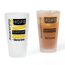 Childhood Cancer Strength Drinking Glass