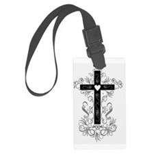 Flourish Cross Luggage Tag