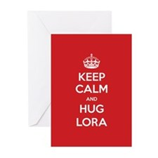 Hug Lora Greeting Cards