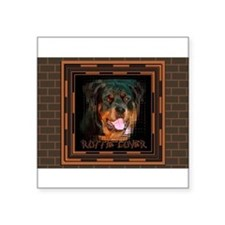 Rottweiler (Rottie) Lover Rectangle Sticker
