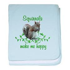 Squirrels Make Me Happy baby blanket