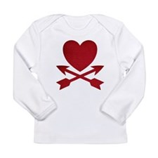 Red Heart and Arrows Long Sleeve T-Shirt