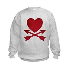 Red Heart and Arrows Sweatshirt