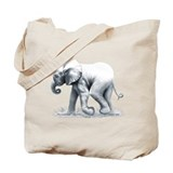 Baby Elephant Tote Bag