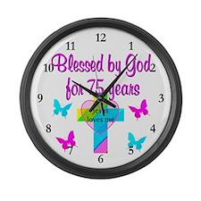 75TH LOVE GOD Large Wall Clock